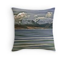 Snow Capped Arran Digital Art Throw Pillow