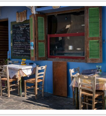 Image of a Typical local restaurant on a Greek Island Sticker