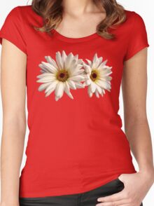 Pair of White Daisies Women's Fitted Scoop T-Shirt