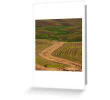 Palouse Meanders Greeting Card