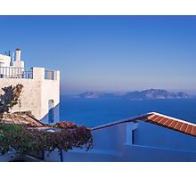 Typical Greek local Houses Nisyros Island  Aegean Sea Photographic Print