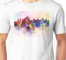 Milan skyline in watercolor background Unisex T-Shirt