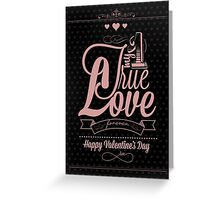 Happy Valentine's Day Hand Lettering - Typographical Background Greeting Card