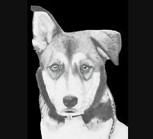 Husky Shepherd Crossbreed with Blue Eyes Unisex T-Shirt