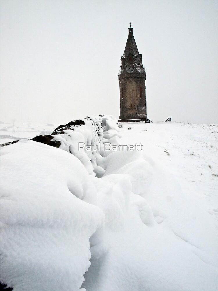 Hartshead Pike in the Snow by Paul Barnett