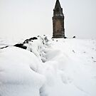 Hartshead Pike in the Snow by Paul Barnett