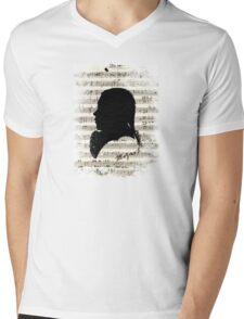 Wolfgang Amadeus Mozart Mens V-Neck T-Shirt