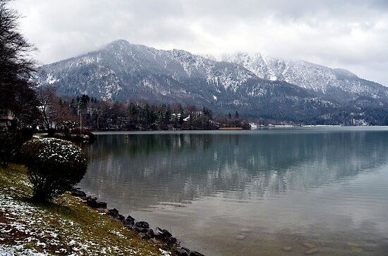 Lake Kochelsee in Winter by Daidalos