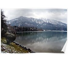 Lake Kochelsee in Winter Poster