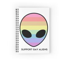 Support Gay Aliens Spiral Notebook