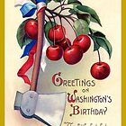 George Washington's Birthday Vintage Card by LouiseK