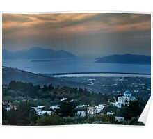 Sunset from Zia Kos to the  Aegean Sea Poster