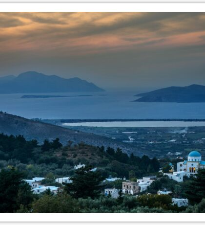 Sunset from Zia Kos to the  Aegean Sea Sticker