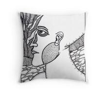 profile of a woman Throw Pillow