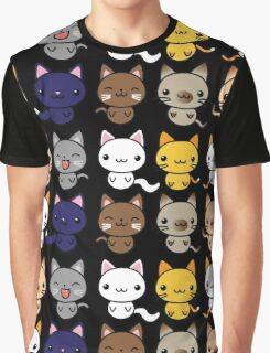 Cute Kitty Cats Graphic T-Shirt