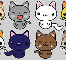 Cute Kitty Cats by Colleen Hernandez