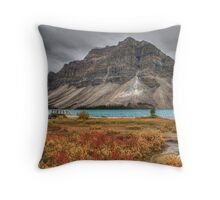 Crowfoot Mountain and Bow lake Throw Pillow