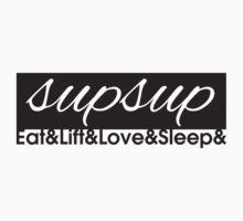 Eat Lift Love Sleep - Variation 2 by Levantar