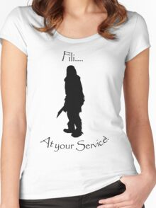 Fili bff shirt Women's Fitted Scoop T-Shirt