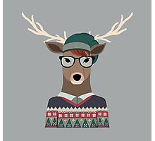 Hipster Deer Photographic Print