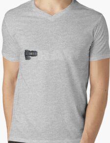 Camera RAW (white characters) Mens V-Neck T-Shirt
