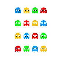 Pacman Ghosts by Piabramar