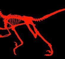 Dancing dinosaur by Rachel Down