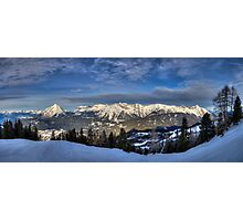 Snowy Mountains all around Photographic Print