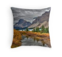 Crowfoot Glacier and Bow Lake Throw Pillow