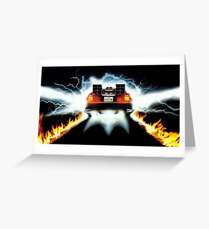 Back To The Future Art Greeting Card