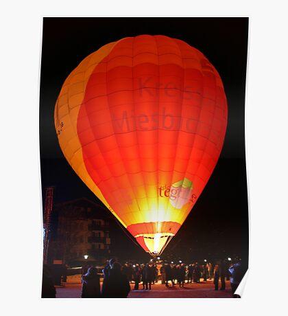 Hot-air balloon  Poster