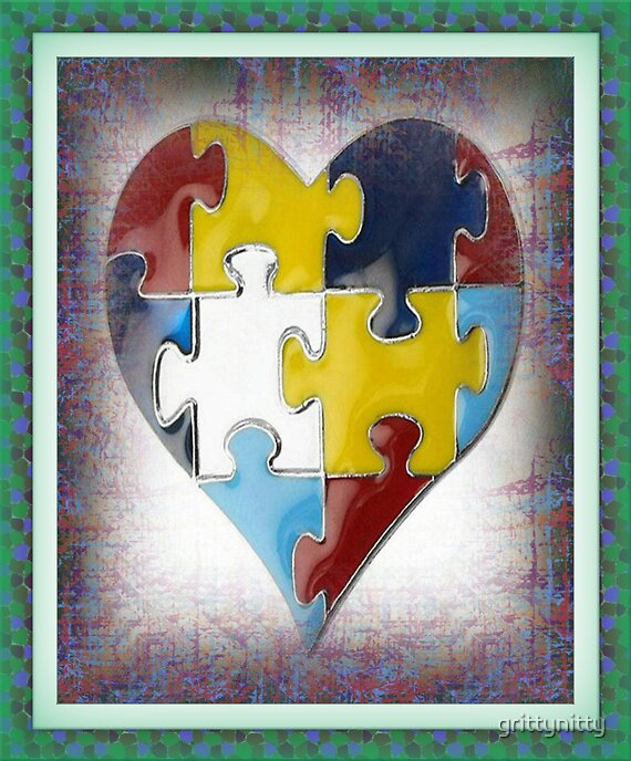 Autism-- The Heart's Puzzle by grittynitty