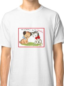 be my valentine day cute puppy and kitten vintage  Classic T-Shirt