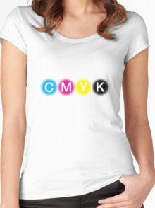 CMYK 1 Women's Fitted Scoop T-Shirt