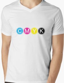 CMYK 1 Mens V-Neck T-Shirt