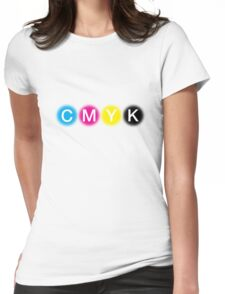 CMYK 1 Womens Fitted T-Shirt