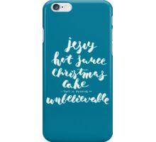 jesus hot sauce christmas cake iPhone Case/Skin