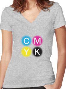 CMYK 2 Women's Fitted V-Neck T-Shirt
