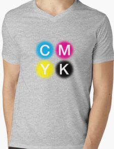 CMYK 2 Mens V-Neck T-Shirt