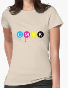 CMYK 5 Womens Fitted T-Shirt