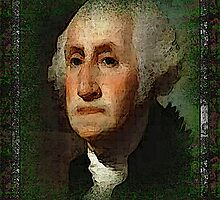 George Washington,  In hand painted relief,,,Self framed  by grittynitty
