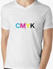 CMYK 7 Mens V-Neck T-Shirt