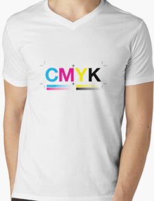 CMYK 8 Mens V-Neck T-Shirt