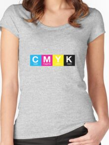 CMYK 9 Women's Fitted Scoop T-Shirt