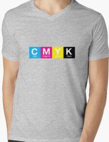 CMYK 9 Mens V-Neck T-Shirt