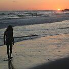Beach Silhouette by Laurel Talabere