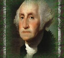 Realistic George Washington, in antique Motif. by grittynitty