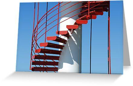 Spiral staircase - Parnu - Estonia by Arie Koene