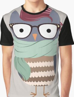 Hipster Owl Graphic T-Shirt
