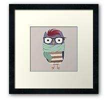 Hipster Owl Framed Print